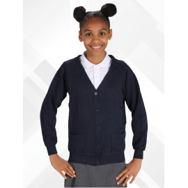 *NEW* Poly/Cotton Sweatshirt Cardigans - Light Navy