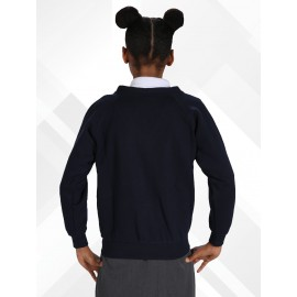 *NEW* Poly/Cotton Sweatshirt Cardigans - Light Navy