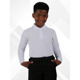 *NEW* Long Sleeve Polo Shirts - White