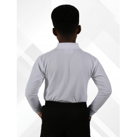 *NEW* Long Sleeve Polo Shirts - White