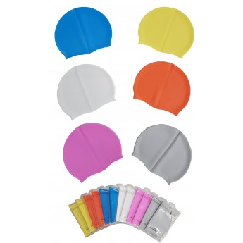 *NEW* Silicone Swim Hats - Assorted Plain - Per 12