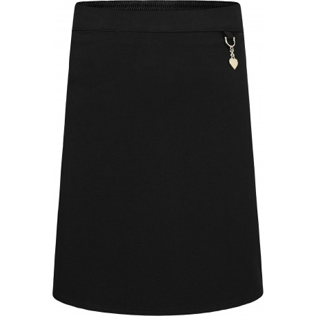 Girls Stretch Heart Skirts - Black